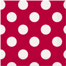 Red Dots Beverage Napkins (16pcs) 2-Ply
